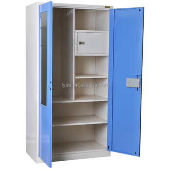 2 Door Metal Cabinet Used For Dressing Room Knock Down Wardrobe