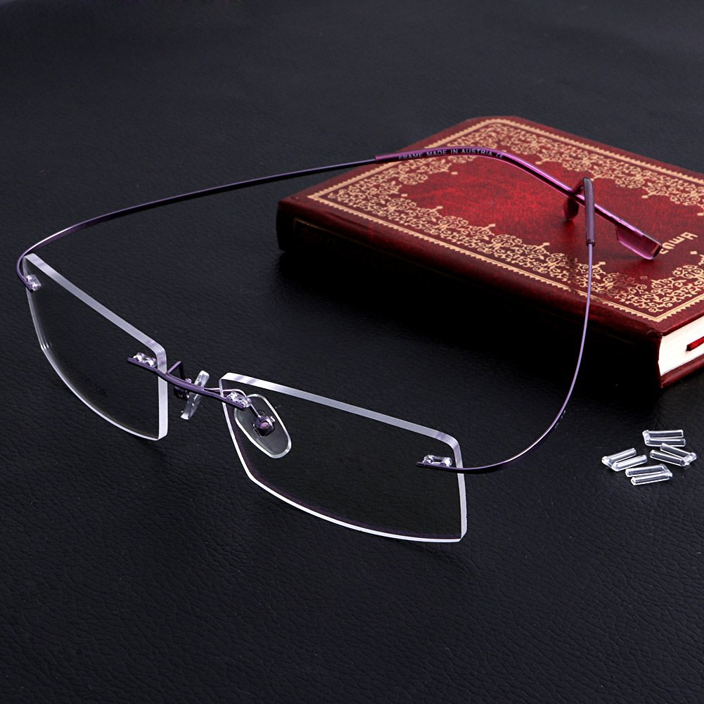 5db45ed487 MEXUD-Fashion Metal Rimless Eye Glasses Eyeglasses Frame Spectacle Frames