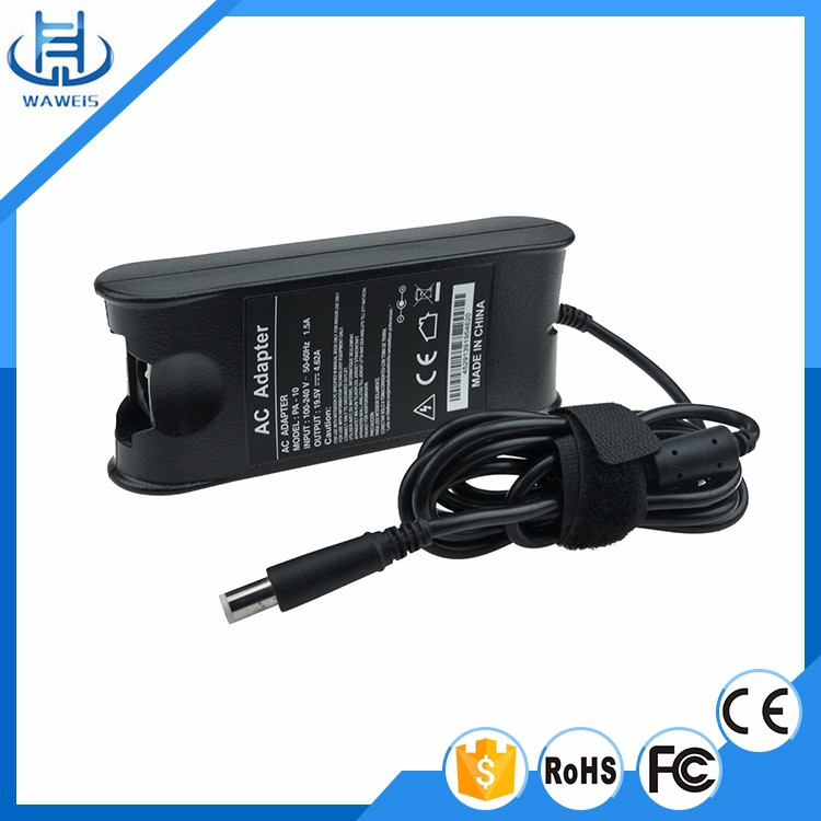 OEM factory price 19.5v 4.62a ac dc adapter 90w laptop power charger for Dell