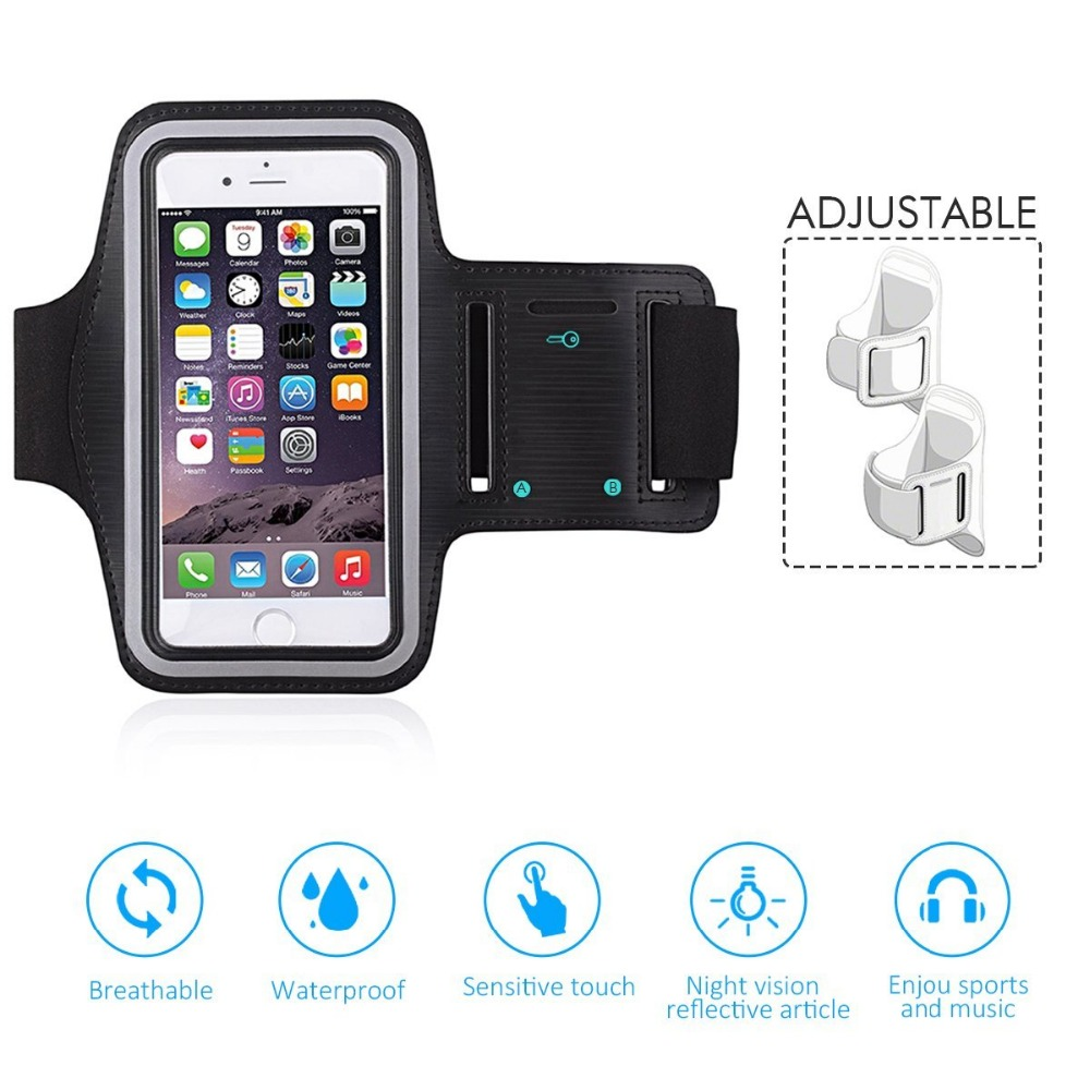 Adjustable neoprene sport armband