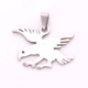 IMG 3166 Yiwu Huilin Jewelry New style stainless steel peace dove pendant charms for jewelry