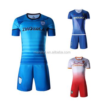 Personalizado sublimación jersey de fútbol insignia del bordado camisetas  de fútbol 5cff65e90cf97