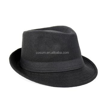 cosum brand wholesale fashion black and grey cheap men cheap fedora hats  for men 7c410d27e1f