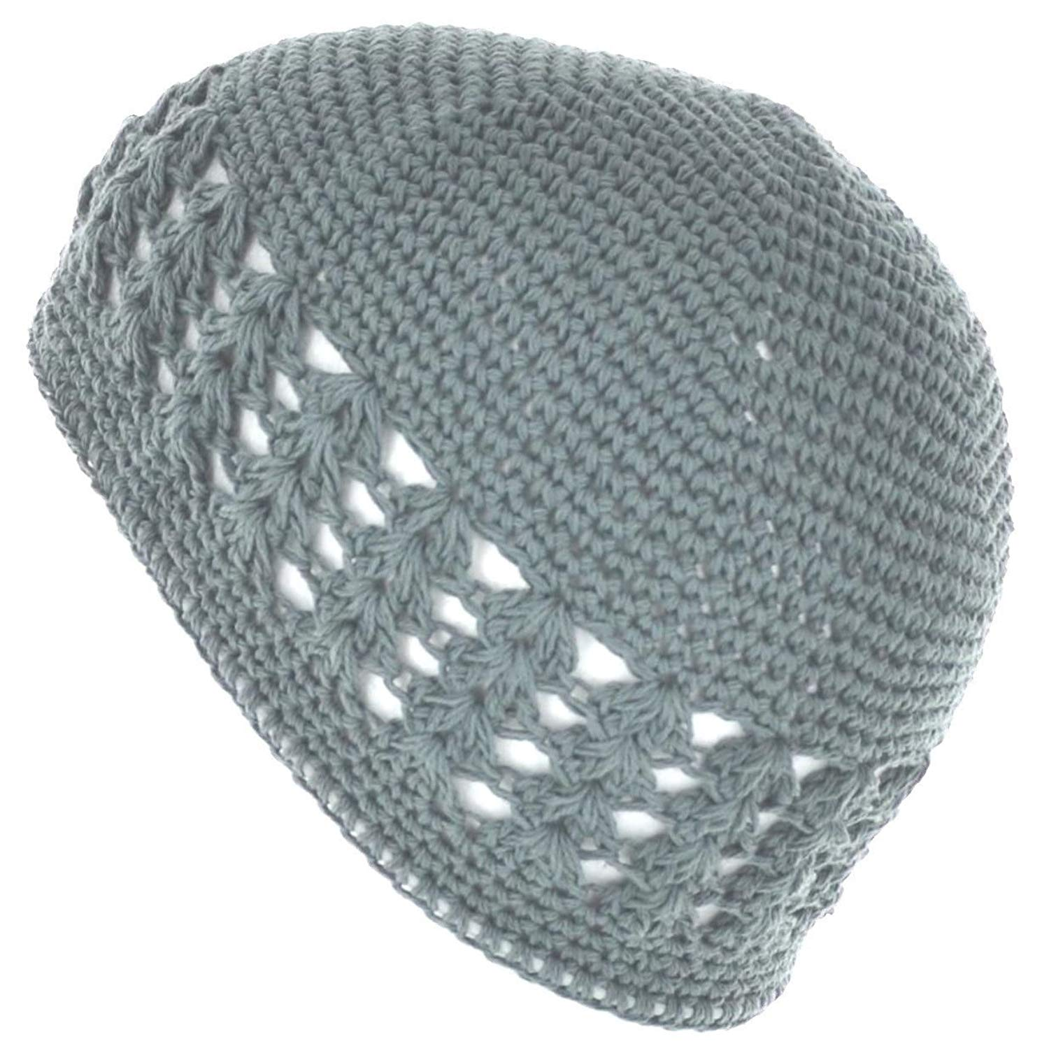 b8f1f2cafeb Get Quotations · LJL Design 100% Cotton Kufi Crochet Beanie Skull Cap Knit  Hat Brand New 19 Different