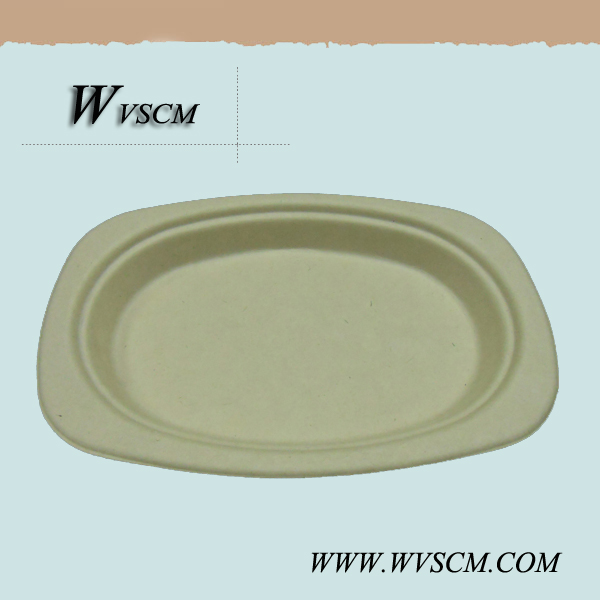 Disposable moulding food serving paper dish