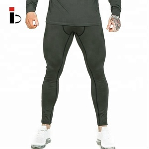 Custom blank workout army green mens jogging spandex dri fit pants