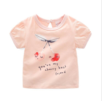 YGT10 Summer kids girls t shirt Children Tops Baby girls Girl Top