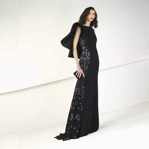 2018 Chaozhou Evening Dress Long Gown Black Women Sweetheart Prom Dresses Ladies Gowns with beaded