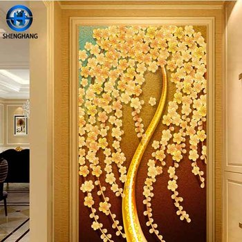2017 New Design 3d Decorative Wall Foam Tile For Bathroom 800 X800 ...