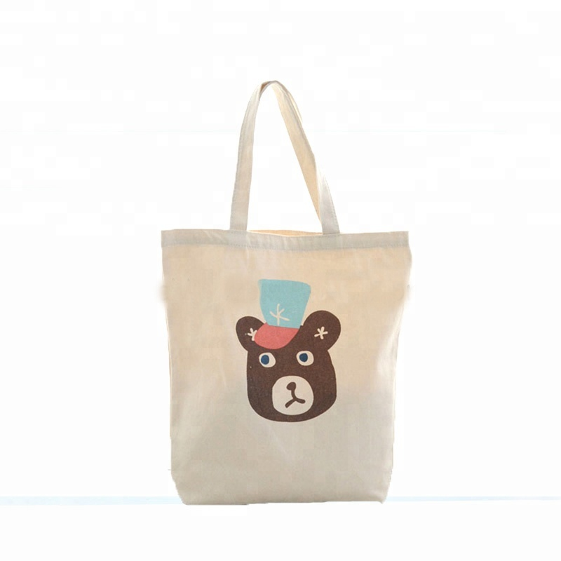 Good quality standard size tote organic cotton canvas shopping bag