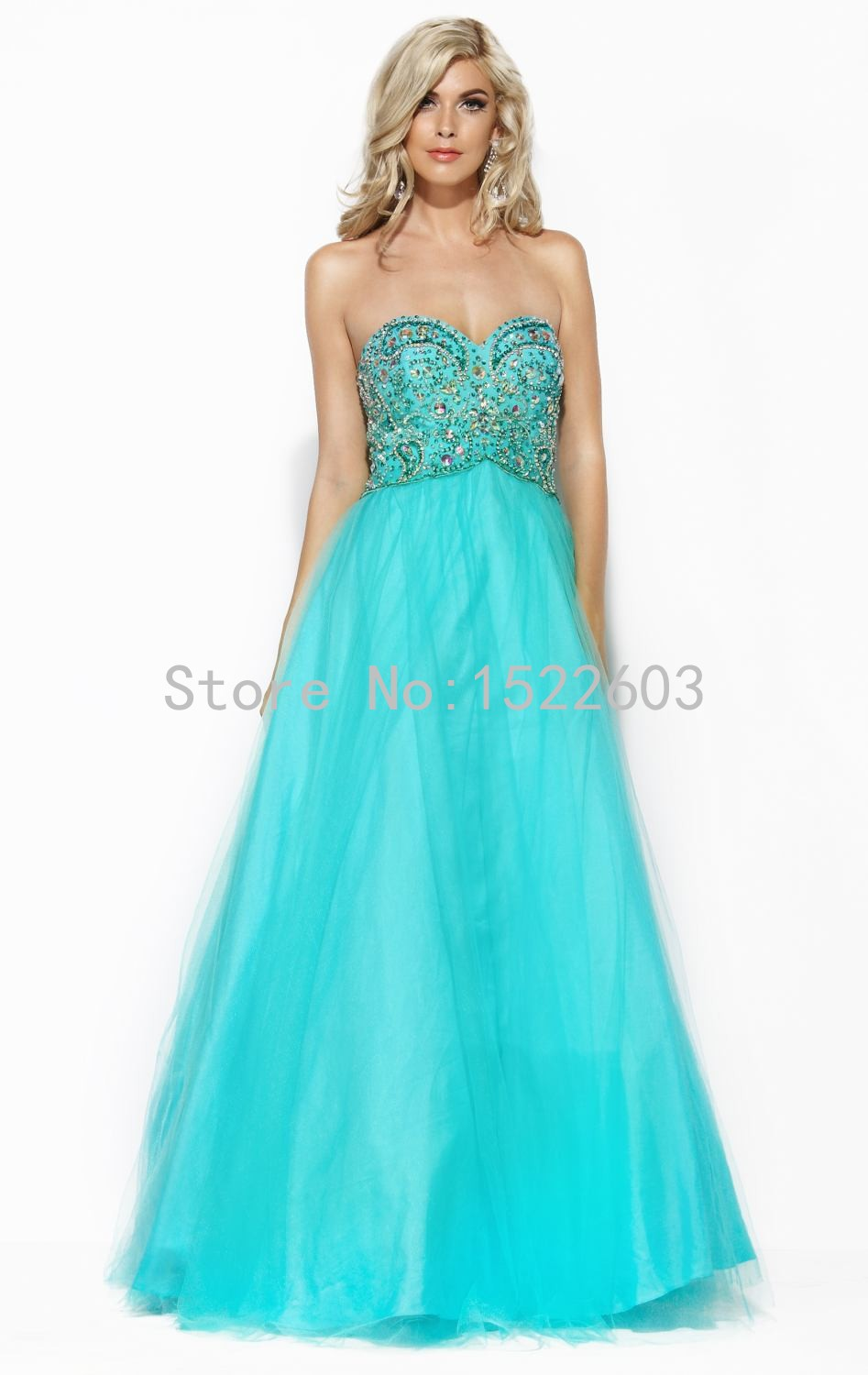 Romantic 2015 Best Selling Mint Green Sweetheart Beading Chiffon Long Cheap Prom Dresses Sexy Amazing Fashion Evening Gown A2100