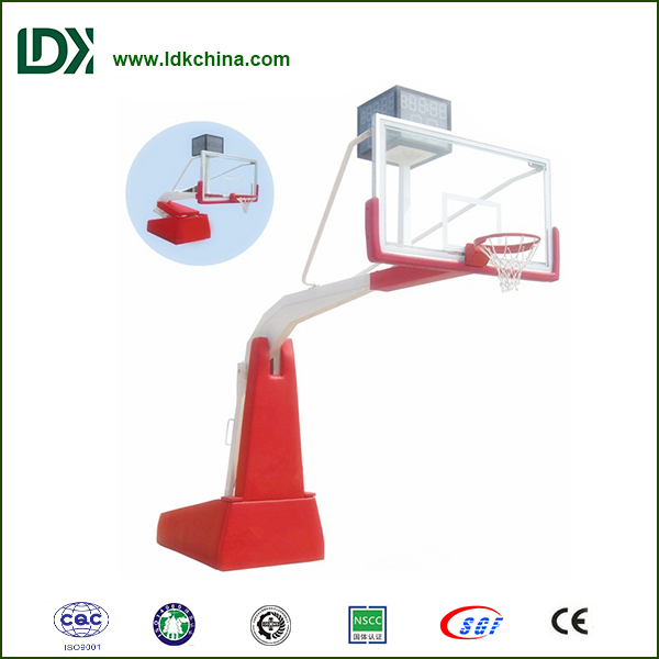 Standard basketball stand part of basket ball hoop pole and base