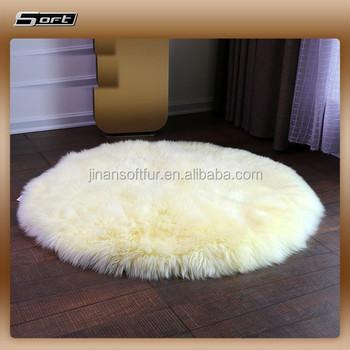 Real Sheepskin Large Round Wool Rugs