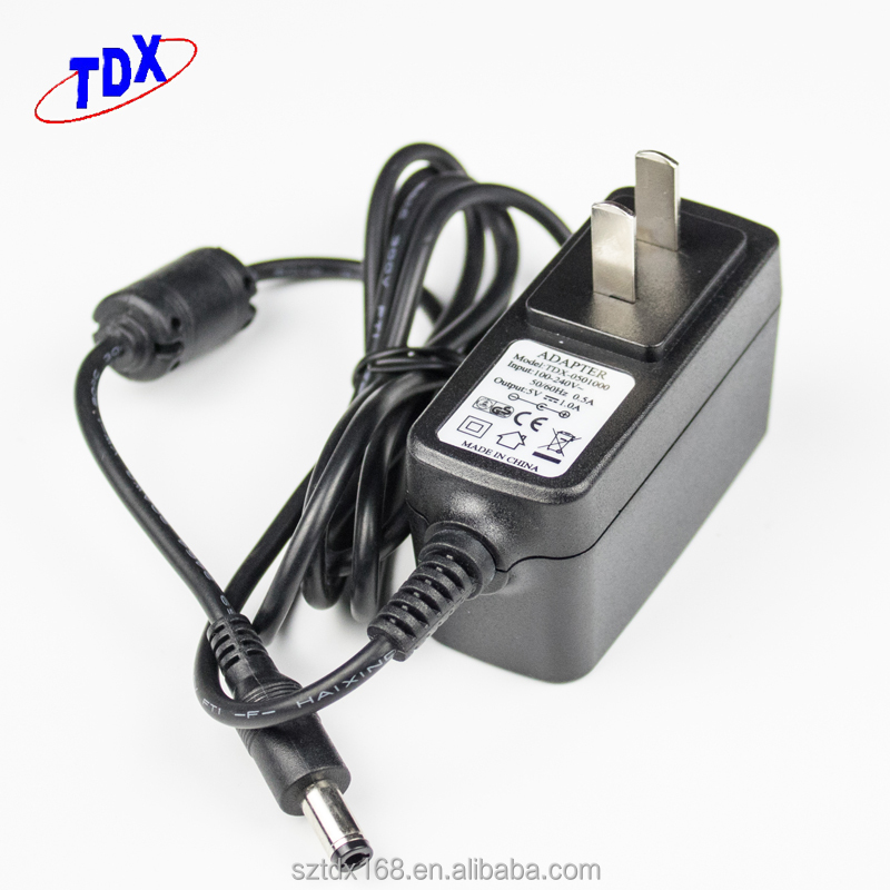 OEM AC 100-240V DC 5V 1A Wall Charger Power Supply Adapter Switching Converter Adapter US/EU/UK/AU Plug