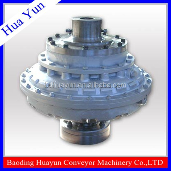Low noise hydrodynamic fluid coupling for mixing machine