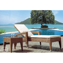 Alibaba trade assurance Outdoor rattan daybed sun lounge beach chair China furniture supplier