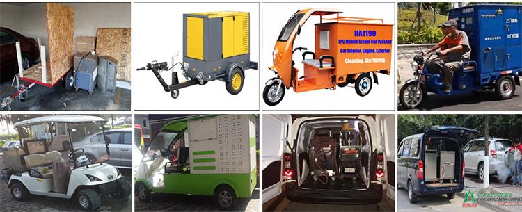 LPG steam car washer for door to door mobile steam car wash