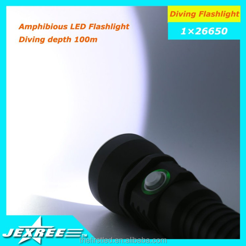 Jexree Scuba 1x XM-L2 LED Diving Flashlight Torch UV Light 1x18650+Charger Waterproof lamp