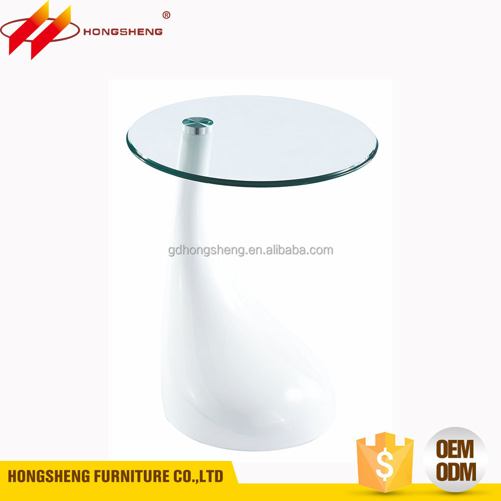 tempered glass ABS plastic injection modern small tea table