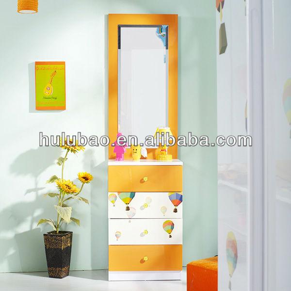 Children Kids Bedroom Dressing Table With Mirror Frame Furniture Sets Modern Mdf