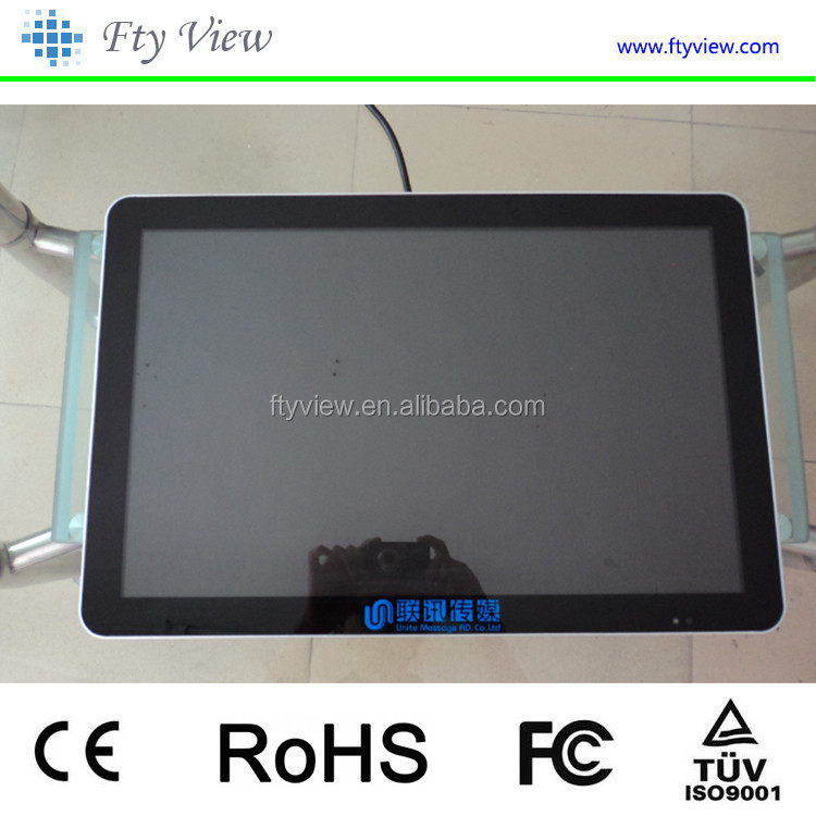 wall mounted 21.5inch android WIFI LCD touchscreen advertising player totem kiosk