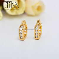 DTINA 2019 women fashion jewelry stone clip on earrings