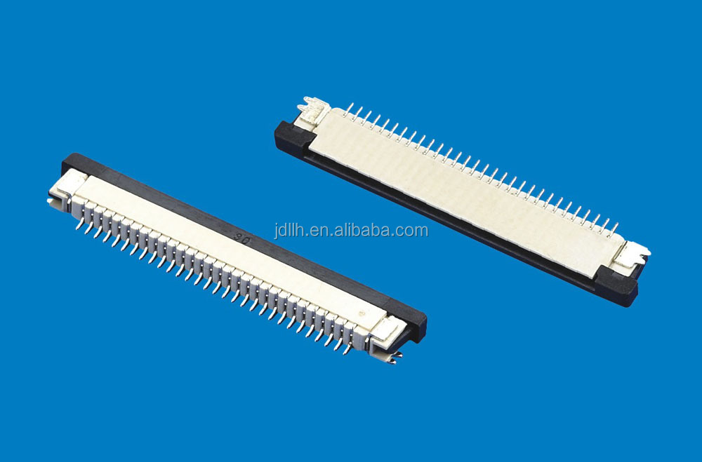 0.8mm pitch fpc connector 0.8A-WTX 4~60PINs black and white color