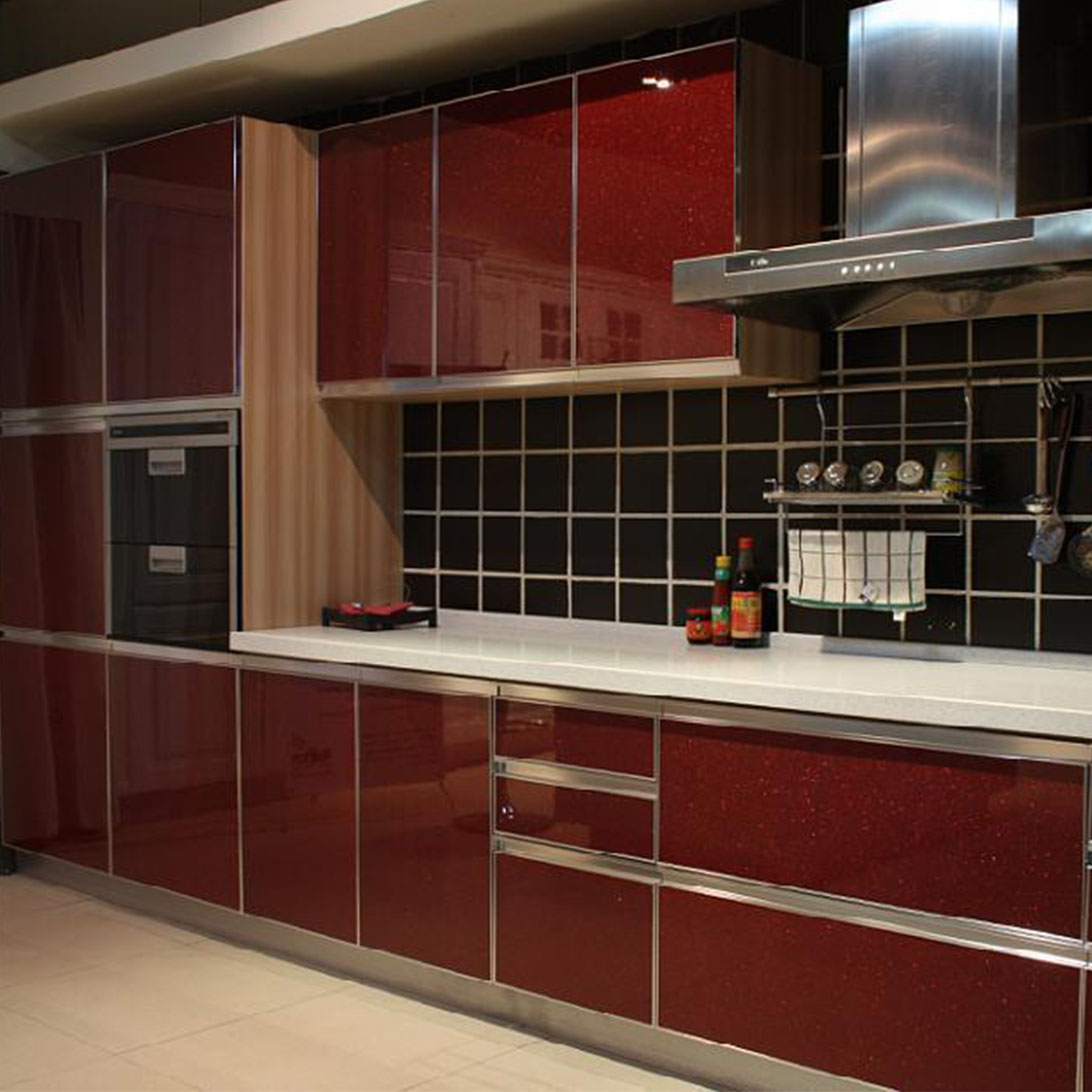 Modular Kitchen Cabinet With Aluminium Glass Kitchen Cabinet Doors Factory Sale Buy Aluminium Glass Kitchen Cabinet Doors Modular Kitchen Cabinet Factory Sale Product On Alibaba Com