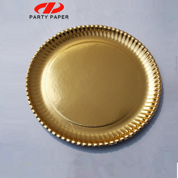 Celebration Disposable Paper Charger Gold Plates - Buy Celebration ...