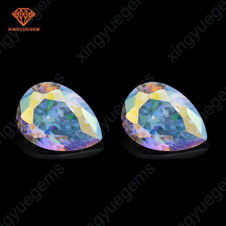 AB color pear cut 7x11mm cz beads sale for Brazil