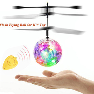 Sensor Flying Ball Luminous RC LED Ball Electronic Infrared Induction Aircraft Remote Control Toys Mini Helicopter