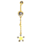 New Belly Ring Long Dangle Clear Navel Bar Gold Dangle Body Jewelry Piercing Many Styles