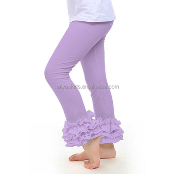 69272efcc Cute girl leggings wholesale light color trousers little girl ruffle pants  cotton legging