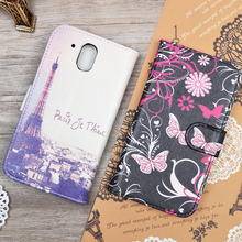 Cartoon Printed PU Leather Case Skin for HTC Desire 526 526G 526G+ 326 326G Flip Cover Wallet Stand Phone Bag with Card Holder