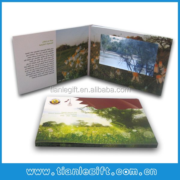 "Most popular business gift 4.3""/5""/7""/10"" LCD video greeting card touch screen"