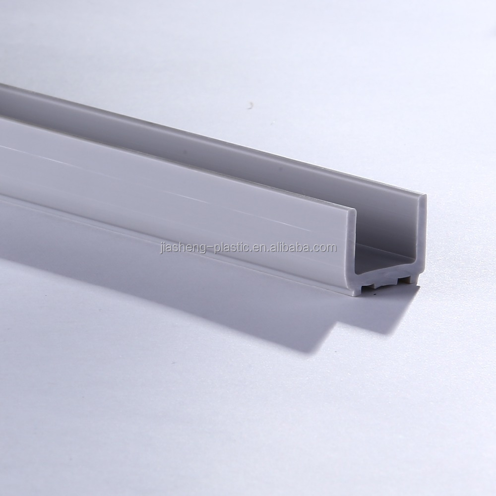 (High quality) plastic extrusion profiles/Rigid pvc U shaped extruded plastic profile