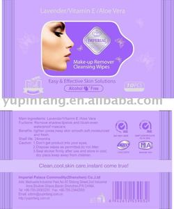 make-up remover wet wipe with Imperial brand