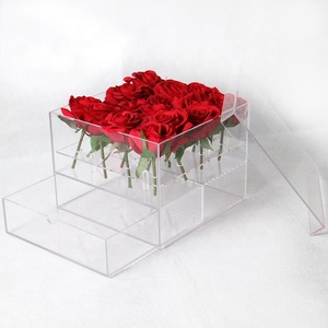 JINBAO china factory sell acrylic flower rose box clear