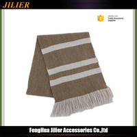 Jilier 2016 New unisex jacqurad 100% Acrylic stripe scarf with tassel wholesale