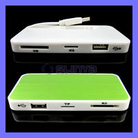 High Speed Multifunction 3 USB 2.0 Hub With SD TF Card Reader