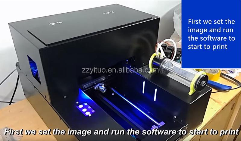 سعر المصنع ثلاثية الأبعاد نافثة للحبر صغيرة حجم A4 طابعة مسطحة بالأشعة فوق البنفسجية