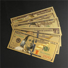 $100 banknote gold foil Whole set US dollar banknote for gift