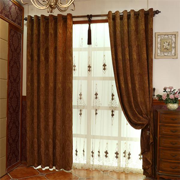 Europe style wholesale luxury home textile curtain jacquard floral fabrics