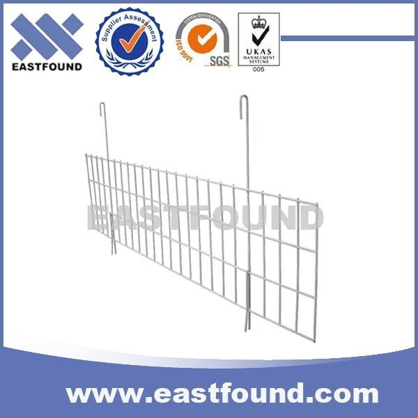 Warehouse Shelf Industrial Metal Wire Deck Divider With 2 Hook
