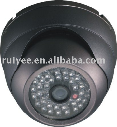 RY-802C 600TVL 1/3 SONY CCD CCTV Security Dome Camera with 48pcs IR Leds