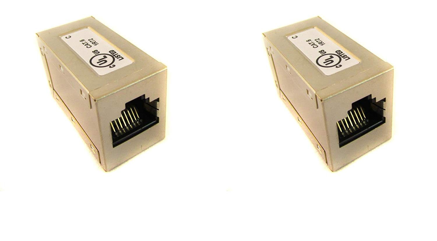 (2 Pack) INLINE Coupler Shielded Cat6 Ethernet Rj45 F/F Network Cable Extender