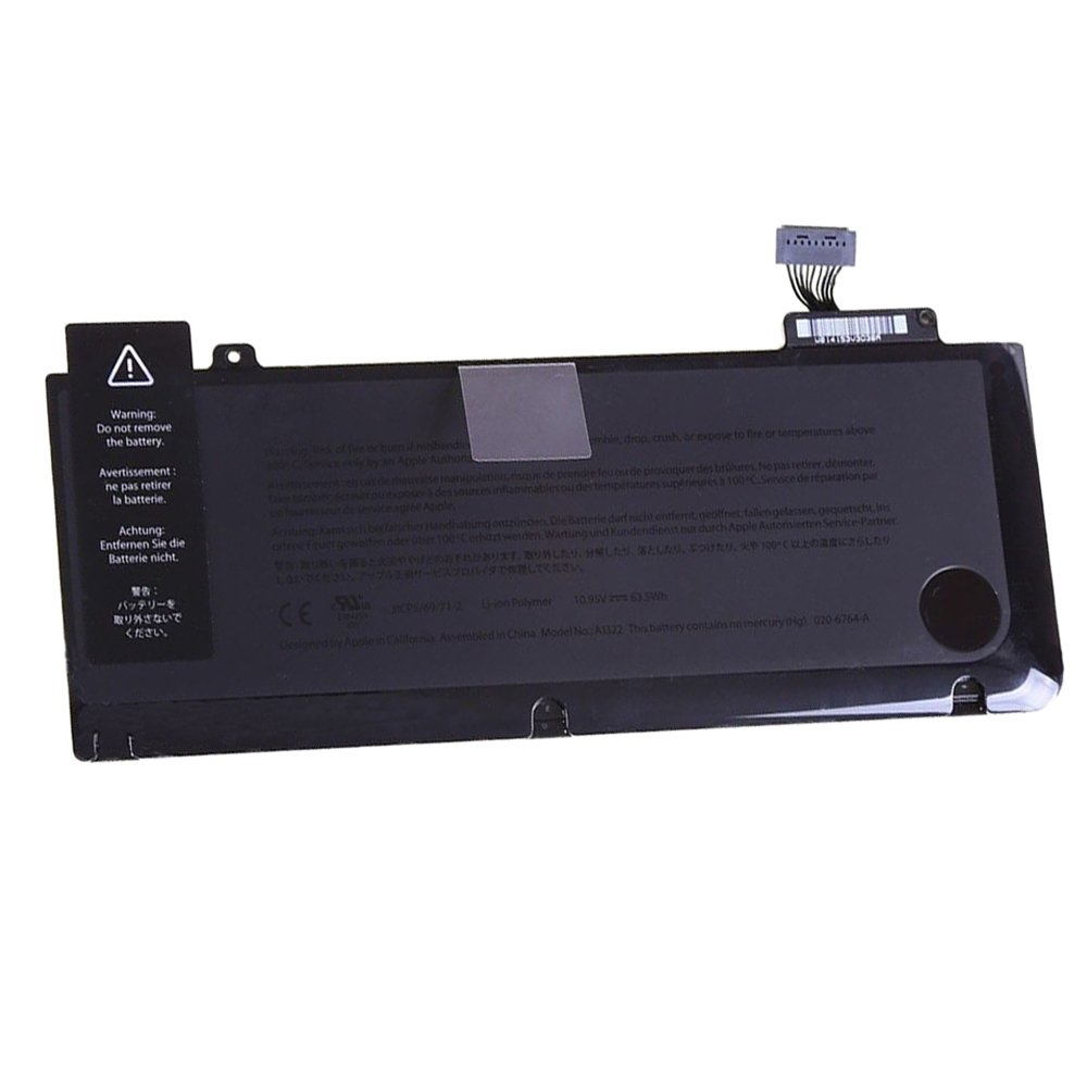 HSX New Laptop Replacement Battery For A1278 A1322 Apple MacBook Pro 13 Inch (Mid 2009, Mid 2010, Early 2011, Late 2011, Mid 2012 Version) fit MB990LL/A MC724LL/A(10.95V 63.5Wh)