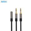2016 NEW Hot sale New 3.5mm Stereo Headphone Microphone 1 to 2 Audio Y Splitter Cable Adapter Plug Jack Cord