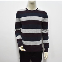 Men's Spring and Autumn Long Sleeve Sweater Pullover Slim Knit