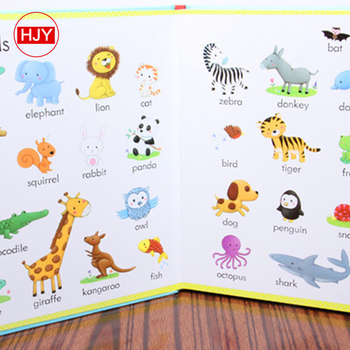 Chinese custom children's English education book printed and illustrated